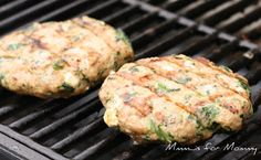 Grilled Spinach & Feta Chicken Burgers
