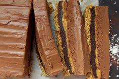 5 Layer No-Bake Chocolate Peanut Butter Cake [Vegan, Gluten-Free]