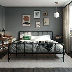Simple Bedroom Decor, Bedroom Wall Colors, Home Decor Bedroom, Mens Room Decor, Bedroom Décor, Bedroom Black, Men's Bedroom Design, Industrial Bedroom Design, Modern Industrial