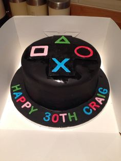 Playstation choc cake - Playstation - Ideas of Playstation - - Playstation choc cake Playstation Cake, Halloween Party Snacks, Halloween Punch, Healthy Halloween, Halloween Recipe, Halloween 2020, Spooky Halloween, Xbox Cake, Video Game Cakes