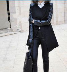 Women  Black coat Wool coat Cashmere coat  winter coat leather coat/suit Coat /Hoodie cape Hooded Cape/clothing /jacket/dress xs-xxl