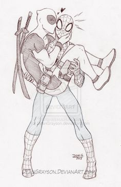 Commission - Deadpool/Spiderman by DeanGrayson.deviantart.com on @deviantART