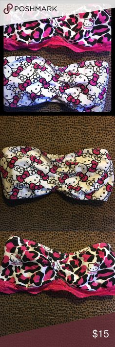 🎀 Hello Kitty Bandeau Set Hello Kitty Bandeau Set comes with two bandeaus. If only interested in purchasing one of them they're $8a pc. Size small • OFFERS WELCOME• NWOT• Hello Kitty Intimates & Sleepwear Bandeaus