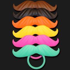 Moustache colorée