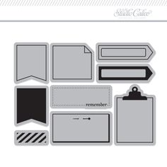 <p>This sweet stamp set includes essential shapes and flags, and will make a great addition to your planning!</p>