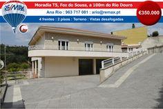 VENDA - Moradia T5, Foz do Sousa, a 100m do Rio Douro http://www.remax.pt/123551032-166 Comigo Está Vendido! Ana Rio : 963 717 081 : ario@remax.pt