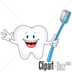 CLIPART TOOTH AND BRUSH
