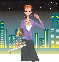 mujer trabajadora de noche