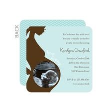 Love Grows: Lightest Turquoise Boy Baby Shower Invitations