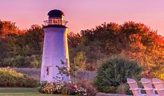 A lighthouse in Kennebunkport Maine.  Visit our website for lots of travel ideas.