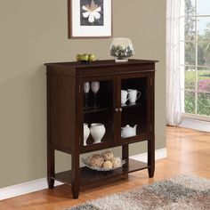 Richland Collection Dark Tobacco Brown Medium Storage Media Cabinet and Buffet | Overstock™ Shopping - Great Deals on WyndenHall Media/Bookshelves