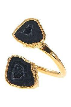 Double Druzy Ring