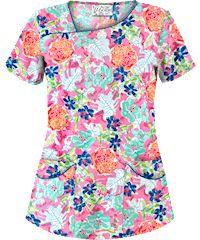 Fancy Tops, Scrub Tops, Ua, Scrubs, Work Wear, Floral Tops, Lily, How To Wear, Women