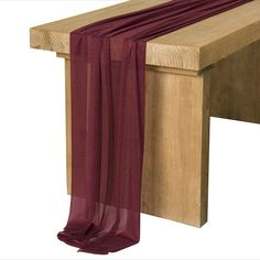 Ling's moment 10Ft Burgundy Sheer Table Runner for Wedding Rustic Boho Wedding Party Bridal Shower Decorations Birthday Party