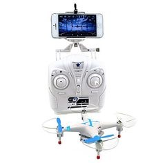 Drone Cheerson CX-30W+T 4CH 6 Axis 2.4G RC Quadcopter FPV / LED Lighting / 360°Rolling / Access Real-Time Footage / Low Battery WarningRC #offroad #hobbies #design #racing #quadcopters #tech #rc #drone #multirotors