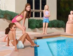 Surreal Artwork by Deborah Hamon Combines Photography & Painting In Photoshop – if it's hip, it's here Surreal Artwork, Contemporary Artists, Surrealism, Swimming Pools, Photoshop, Fine Art, Photography, Painting, Surreal Art