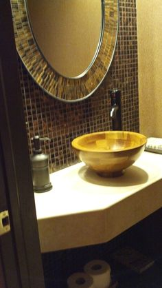 Travertine custom vanity top