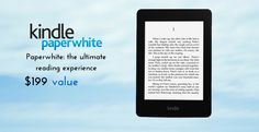 Enter to win a Kindle Paperwhite. The winner will be contacted through email, so keep your eyes open for a confirmation email from McKay Manor. Free