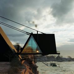 The Iranian Architect & Interior designer Milad Eshtiyaghi has evnisioned a suspended cliff house planned to be built in #Mendocino, #California, USA. #architecture #architect #amazingarchitecture #design #interiordesign #interiordesigner #decor #homedecor #home #house #luxury #diy #travel #amazing #photography #realestate #casa #arquitecto #arquitectura #decoration #cliff #cliffhouse #cabin #suspended #suspendedhouse #render #vray #3d #lumion #nature #unitedstates #3dsmax #houseplan Residential Architecture, Amazing Architecture, Mendocino California, Cliff House, Modern House Design, 3 D, House Plans, Real Estate, Cabin