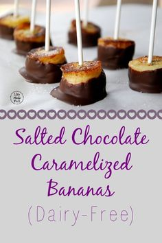 A quick after-school treat or weeknight dessert--these Salted Chocolate Caramelized Bananas are delightful! Gluten Free Treats, Gluten Free Desserts, Just Desserts, Delicious Desserts, Yummy Food, Paleo Dessert, Healthy Sweets, Dessert Recipes, Healthy Eating