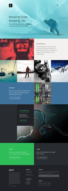 Free PSD One Page Web Design on Behance