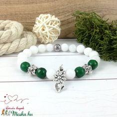 Zöld virágok jade ásvány karkötő (Arindaekszerek) - Meska.hu Beaded Bracelets, Jewelry, Jewlery, Jewels, Jewerly, Jewelery, Seed Bead Bracelets, Pearl Bracelet, Accessories