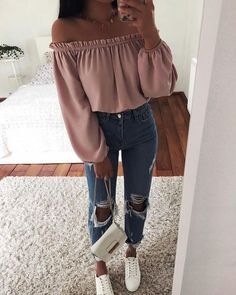 Insta outfit ideas, cute outfits casual wear, veja sneakers on stylevore Teenage Outfits, Teen Fashion Outfits, College Outfits, Mode Outfits, Outfits For Teens, Fashion Dresses, Airport Outfits, Tumblr Outfits, Tween Fashion