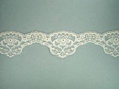 Ivory Scalloped Lace - 2 1/4