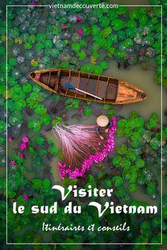 Admirez des pittoresques excursions en bateau à la découverte d'un monde mi-terrien mi-aquatique et des moments détentes sur des plages magnifiques au sud du Vietnam  #vietnam #vietnamdecouverte #nature #voyage #visitevietnam #green #green #ig_vietnam #travel  #vietnam #travel #landscape #vietnamtravel#tourism #photography #destination #asia#southeastasia #indochina #holidays #sunset#diy #bts Ho Chi Minh Ville, Delta Du Mekong, Vietnam, Excursion, Land Scape, Amazing Photography, Circuit, Bts, Nature