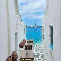Pretty as a picture. Mykonos, Greece. Photo by @sert mehmet #followmefaraway