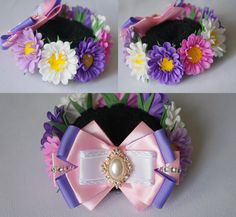 Фотография Bun Wrap, Kanzashi Flowers, Hair Bows, My Hair, Headbands, Wraps, Ribbon, Ribbon Flower, Bows For Girls