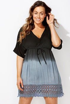 Find Swimsuits All Women's Plus Size Ombre Tunic Swimsuit Cover Up online. Shop the latest collection of Swimsuits All Women's Plus Size Ombre Tunic Swimsuit Cover Up from the popular stores - all in one Beach Outfit Plus Size, Plus Size Beach Dresses, Plus Size Outfits, Beach Outfits Women Plus Size, Plus Size Bikini Bottoms, Women's Plus Size Swimwear, Curvy Swimwear, Bikini Swimwear, Bikinis