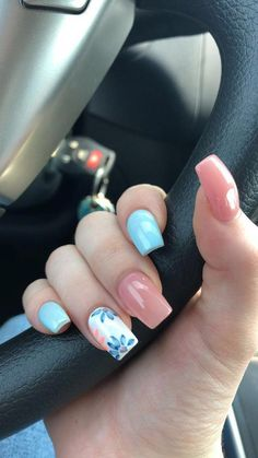 Cute Nail Art Designs Ideas for Stylish GirlsYou can find Spring nails and more on our website.Cute Nail Art Designs Ideas for Stylish Girls Cute Nail Art Designs, Bright Nail Designs, Cute Summer Nail Designs, Cute Summer Nails, Nail Designs Spring, Floral Designs, Designs For Nails, Acrylic Nail Designs For Summer, Turquoise Nail Designs