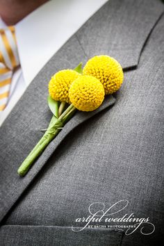 Yellow Boutonniere  Sachs Photography