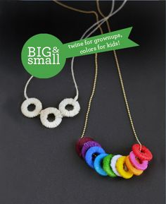 Big & Small DIY: Wrapped Washer Necklaces