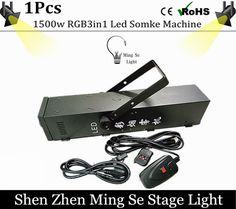 109.25$  Buy now - http://ali1za.worldwells.pw/go.php?t=32754063727 - Fog machine  RGB 3in1 LED 1500W smoke machine of professional DJ equipment 109.25$