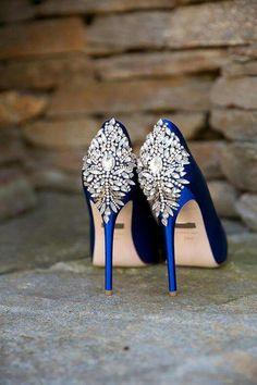Badgley Mischka Diamond Accent heels. Perfect wedding shoe.
