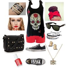 """""""Punk rock"""" by baileygrattelo on Polyvore. I literally want every single detail of this outfit in my closet ASAP."""