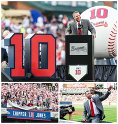 June 28, 2013, Chipper Jones is inducted into the Braves Hall of Fame and the #10 is retired.