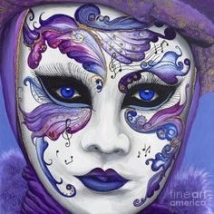 Purple Carnival Mask is one of my favorites. This one is really X 30 Acrylic on canvas with glitter accents. The Original has SOLDThis is painting in my Carnival Series 11 of Venetian Carnival Masks, Carnival Of Venice, Venetian Masquerade, Masquerade Masks, Diy Carnival, Carnival Rides, Masquerade Party, Mascarade Mask, Carnival Food