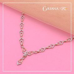 Get all the vibes for an evening cocktail party with this Pocket-friendly Diamond Neck-piece! off* on Diamond Value! Pink Diamond Jewelry, Diamond Necklace Set, Gold Pearl Necklace, Diamond Pendant, Gold Jewelry, Pretty Necklaces, Expensive Jewelry, Jewelry Model, Bridal Jewelry Sets
