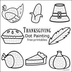 Thanksgiving Dot Painting {Free Printables}