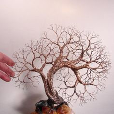Wire Tree Of Life Soul Mate Spirits sculpture by CrowsFeathers, sold