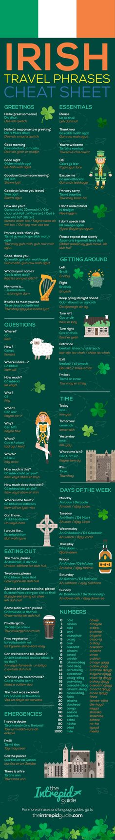 Irish Gaeilge Phrases and Words for Travellers patricks day wishes pictures 99 Useful Irish Phrases and Words Perfect for Travellers Celtic Pride, Irish Pride, Celtic Art, Welsh Language, Irish Gaelic Language, Native American Quotes, American Symbols, American Indians, Best Dog Food Brands
