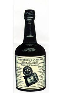 1885- John Stith Pemberton invents Pemberton's French Wine Coca, flavored with African kola nut, which, along with Peruvian coca, acts as a stimulant.  When Atlanta bans alcohol, Pemberton will replace the wine base with carbonated water & add orange blossoms & vanilla to make Coca-Cola.