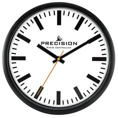 Precision wall clock #radio #controlled 30cm #white face black time hands,  View more on the LINK: http://www.zeppy.io/product/gb/2/161946768395/