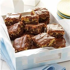 Broadway Brownie Bars Recipe -I named these dessert bars for Broadway because they're a hit every time I serve them. I especially like to make these for the holidays, or for hostess gifts. They're always sure to please any sweet tooth! —Anne Frederick, New Hartford, New York