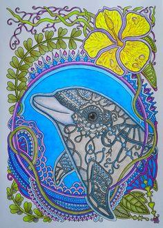 #раскраскаантистресс #яраскрашиваю #раскраскидлявзрослых #ольгаголовешкина #ветеруноситцветы #дельфин Adult Coloring, Coloring Books, Color Activities, Marine Life, Animal Pictures, Artwork, Flowers, Russia, Animals