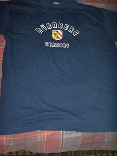 W DESIGN MENS NAVY BLUE T-SHIRT SIZE 3XL (NURNBERG GERMANY) #Unbranded #PersonalizedTee