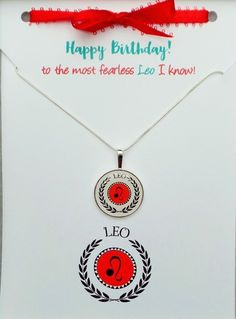 Zodiac LEO Birthday Card Necklace Gift Set - Need a birthday gift for a Leo? Give her this super on trend LEO Chevron necklace / card set from Girl Power Cards. Leo Birthday, Birthday Wishes, Birthday Cards, Birthday Gifts, Chevron Necklace, Happy Birthday Greeting Card, Sister Tattoos, Leo Zodiac, Great Gifts